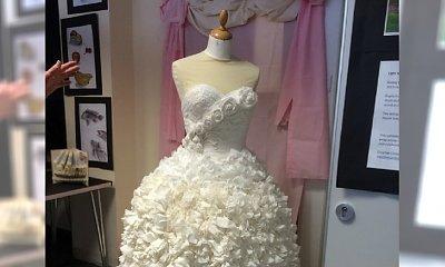 Ta suknia ślubna jest jak z bajki! Ale chyba nie chciałybyście pójść w niej do ołtarza...