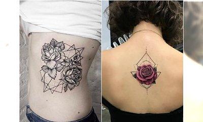 Geometric rose - super trend w tatuażu. Zobaczcie najpiękniejsze wzory dla kobiet