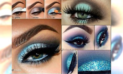 Ice eye make up - zimowy