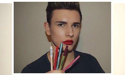 Chłopak, który maluje się lepiej niż niejedna z nas! Zobacz pracę tego młodego makijażysty. Czy to jest normalne?