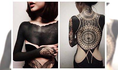 Black out tattoo - tatuaż wypełniony czarnym tuszem....hit czy kit?