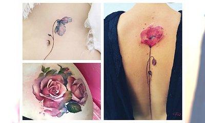 Delikatne tatuaże kwiaty dla każdej kobiety... Mega kobiece!