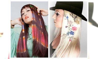 Kolorowe tatuaże na włosy na karnawał 2017! Hit czy kit?