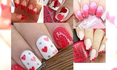 Walentynkowy manicure. Dużo pomysłów na romantyczne wzorki!