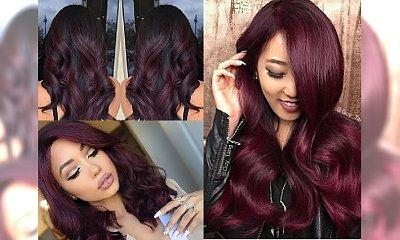 Burgundowe włosy - hit Instagrama, który pokochałyśmy. A Wy?