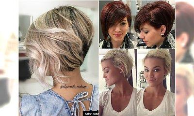 Modne fryzury 2017 dla włosów do ucha - GALERIA najlepszych inspiracji