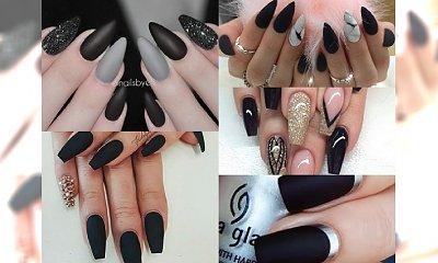 BLACK IS BACK! Odświeżona galeria inspiracji na ożywczy manicure w kolorze czarnym. Postaw na elegancję!