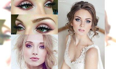 Ślubny HOT TREND 2017: Różowy makijaż oka. Galeria pięknych inspiracji dla przyszłych panien młodych