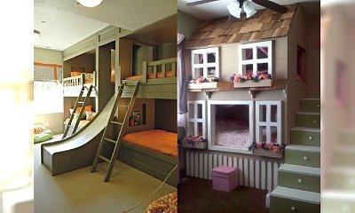 Piętrowe łóżka wcale nie muszą być nudne. Zainspirujcie się pomysłami, na których punkcie Wasze dzieci oszaleją!