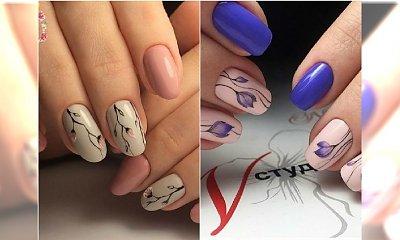 Te paznokcie to prawdziwe cudo! Wypróbujcie subtelne wzory z kwiatami