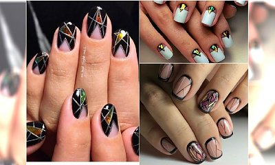 Szklany negative space manicure to wielki trend 2017! Te wzorki są hitem