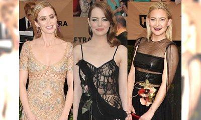 Emma Stone na SAG Awards. Ona i TAKIE PRZEŚWITY? Wow! Wybraliśmy 5 najpiękniejszych sukni