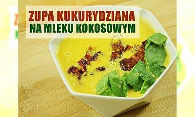 Zupa kukurydziana na mleku kokosowym