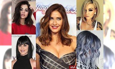 Uwodzicielskie fryzury dla włosów średniej długości - TOP TRENDY 2017!
