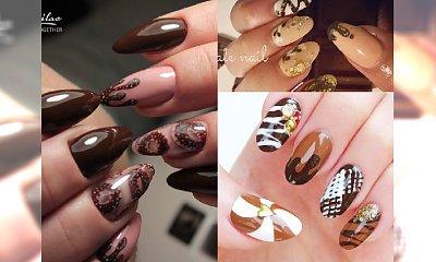 Manicure 2017: Hybrydy w kolorze apetycznej płynnej czekolady! Ostatnia szansa na szaleństwo przed końcem karnawału