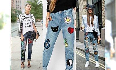 Hit 2017: Jeansy z naszywkami królują na wybiegach! Zobacz, jak je nosić!