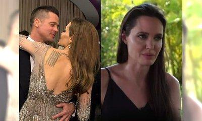 Angelina Jolie PIERWSZY RAZ o rozstaniu z Bradem Pittem! Prawie się popłakała.