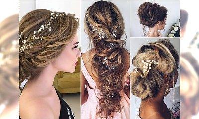 Fryzury ślubne 2017 - katalog modnych fryzur dla panny młodej