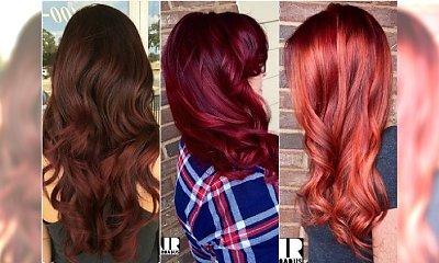 Modne kolory włosów z palety rudości i fioletów. Wypróbujcie je w różnych wariantach!
