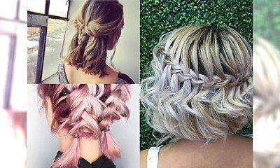 Upięcia z warkoczem na krótkich włosach - to możliwe! Galeria ślicznych inspiracji