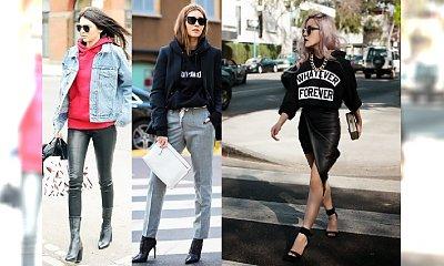 Hot trend, który kochają IT-GIRLS: bluza z kapturem do butów na obcasie!