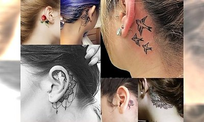 20 ślicznych i kobiecych inspiracji na tatuaż za uchem - uwielbiamy tatuaże w tym miejscu!