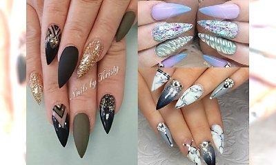 Manicure 2017: Zapomnij o okrągłych czy kwadratowych paznokciach! Prawdziwą furorę zrobisz tylko paznokciami o kształcie w szpic!
