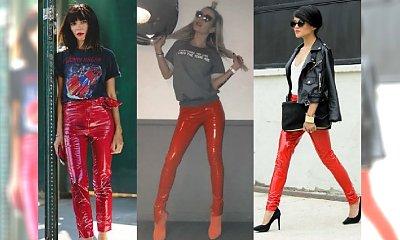 Czerwone winylowe spodnie - Doda się w nich zakochała. Jak je nosić, żeby nie wyglądały wulgarnie?