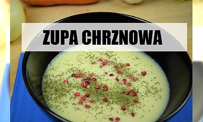 Chrzanowa zupa krem z mlekiem kokosowym i selerem