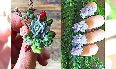 Ekologiczny manicure. Te kwiaty naprawdę ROSNĄ NA PAZNOKCIACH!
