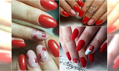 Czerwone paznokcie w wiosennym wydaniu NIEZWYKŁE WZORY!