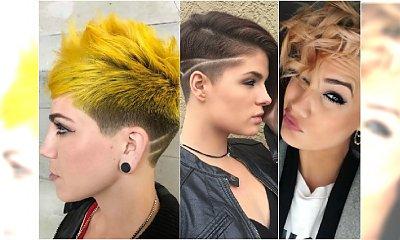 Krótkie fryzury z grzywką, wygolonymi wzorami, asymetryczne. Dla znudzonych grzecznym pixie!