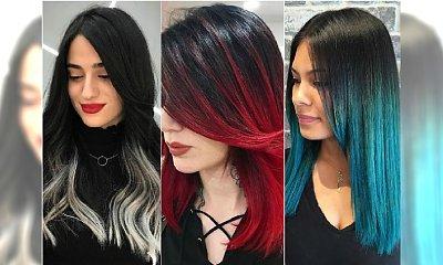 Kolorowe ombre dla czarnych włosów. Ten efekt może być ciekawy! 15 najlepszych inspiracji