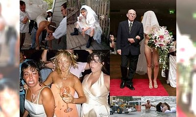 To prawdziwy cyrk na kółkach! Oto 35 najbardziej żenujących zdjęć ślubnych, z których drwi cały Internet!