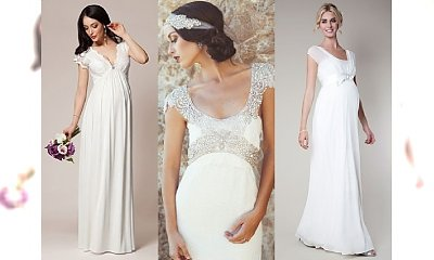 15 najpiękniejszych sukni ślubnych dla kobiet w ciąży