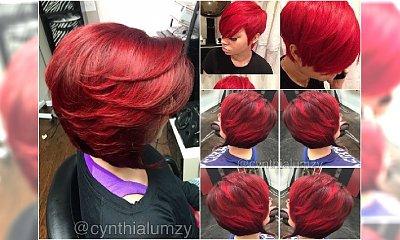 Krótka fryzura i soczysta czerwień - zakochacie się w tym duecie!