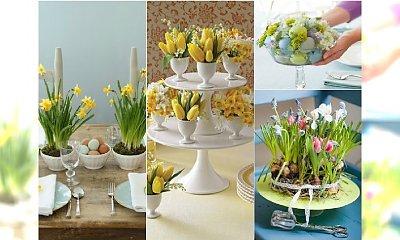 Wielkanocne stroiki z kwiatami na stół - urocze kompozycje, które zrobisz sama!