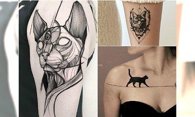 Tatuaż z kotem - nowoczesne WZORY dla fanów tatuażu i kotów