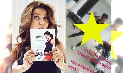 Anna Lewandowska ćwiczy na SIŁOWNI w 9. miesiącu ciąży!