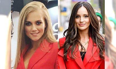 Agnieszka Kaczorowska i Marina Łuczenko-Szczęsna w czerwonym garniturze! Która wygląda w nim lepiej?