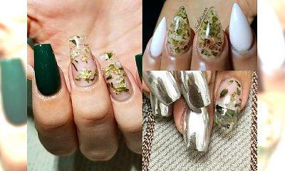Manicure z listkami PRAWDZIWEJ marihuany robi furorę na Instagramie. Weedicure to hit czy kit?