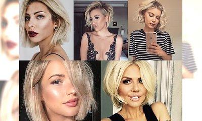 Najpiękniejsze short boby dla blondynek - odmładzają i dodają stylu