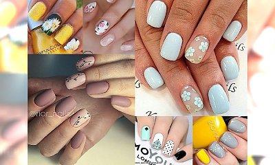 Wiosenne, ożywcze inspiracje na manicure! Zakochasz się w tych kolorach i wzorkach!
