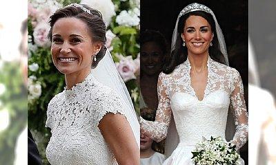Suknie ślubne Pippy i Kate Middleton. Która z sióstr prezentowała się lepiej?