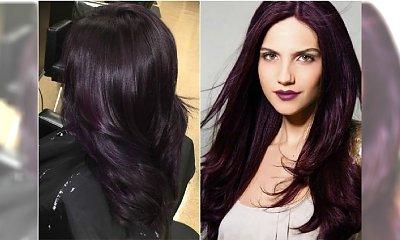 Bakłażan - supermodny kolor włosów dla wielbicielek szlachetnych odcieni