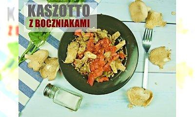 Obłędne kaszotto z boczniakami i pomidorami