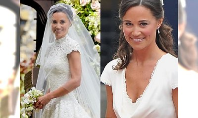 TEN SAM element stroju ślubnego Pippy Middleton pojawił się w jej kreacji na weselu Kate. Co to takiego?