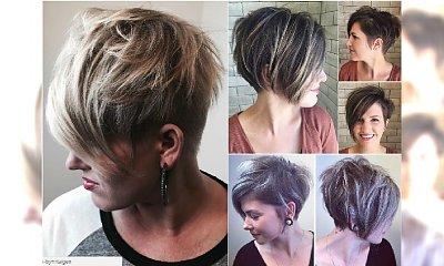 Krótkie fryzury damskie 30, 40 lat. Modne cięcia pixie, z grzywką, asymetryczne [DUŻA GALERIA]