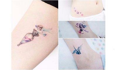 Mały kolorowy tatuaż - 25 pomysłów na subtelny, dziewczęcy wzór