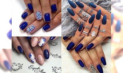 Kobaltowy manicure na wiosnę, dla dziewczyn, które nie przepadają za pastelami